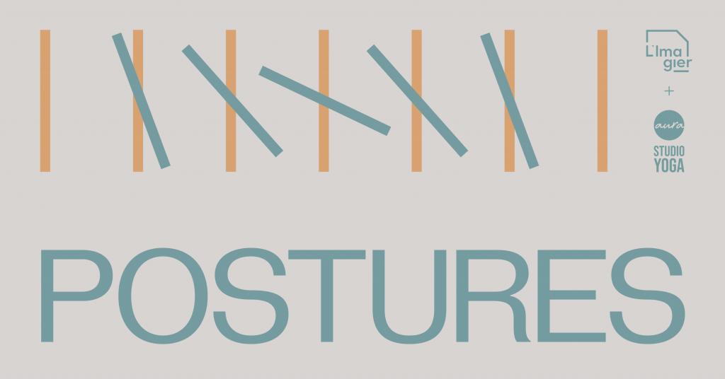 Graphic identity of Postures (Yoga at L'Imagier)